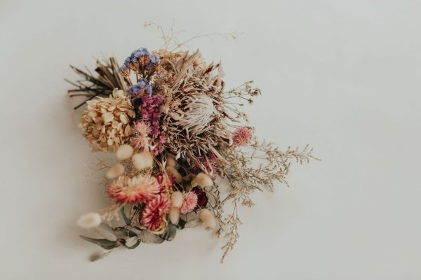 Dried bridal bouquet