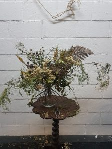 To show how different type of flora can be used in a dried arrangement.